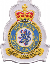 No. LIV (54) (R) Squadron Royal Air Force RAF Crest MOD Embroidered Patch